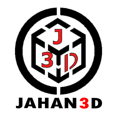 لوگوی پرینتر سه بعدی jahan3d