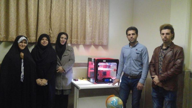 تجهیز پژوهش سراهای تهران به پرینتر سه بعدی jahan3d